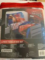 New Disney Cars 3 Fast Not Last 4 Piece Toddler Bed Set McQueen