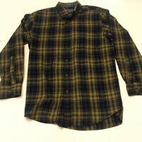 Pendleton Mens Oxford Shirt Multicolor Windowpane Cuffed Long Sleeve Pocket M