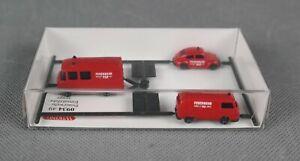WIKING 093449/0934 49 (Spur N,1:160) 3-tlg. Set Feuerwehr - Einsatzfahrzeuge NEU