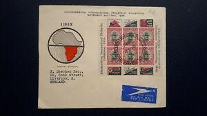 SUD AFRICA BUSTA CON FOGLIETTO 1936 N° 14 B