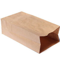 Luxury Party Brown Bags-Kraft Paper Gift Bag Handles Recyclable Loot 10/20x JP