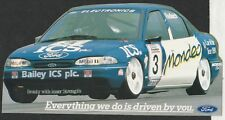 ICS FORD MONDEO GHIA BTCC PAUL RADISICH 1995 ORIGINAL PERIOD STICKER AUTOCOLLANT