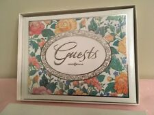 Hallmark Guest Book 25th Anniversary Gilt and Floral Pastels Vintage in Box