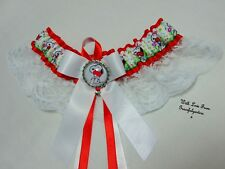 Snoopy Lace Bridal Wedding Garter. Charley brown. peanuts