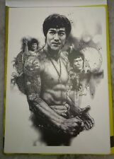 李小龙彩色明信片 Bruce Lee 75th Birthday Pictorial Full Color Post Card #8 Dragon Tattoo