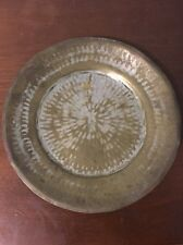 """Antique Hammered Copper Plate Vintage 10 1/4"""" Great Kitchen Wall Decor"""