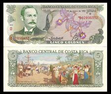 5 Colones UNC Costa Rica 1911-1917 P-S122r Ch