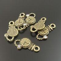 Antique Bronze Alloy Watch Clocks Pendants Crafts Charms Findings 80pcs 32734