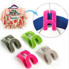 10pcs/Set Household Supplies & Cleaning Tool Flocking Clothes Hanger Hooks