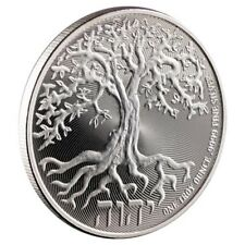2018 Tree of Life 1 oz Silver Niue $2 BU Round Bullion Coin in airtite holder