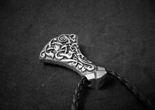Viking Axe Pendant, Large Mammen Axe with Celtic Knot Designs. NEW. Fast Shippin