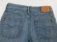 Boy's 550 LEVI Relaxed Fit Size 10 Husky 30x26 Blue Jeans Actual 29x25
