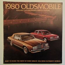 OLDSMOBILE CUTLASS OMEGA STARFIRE orig 1980 USA Mkt Large Format Sales Brochure