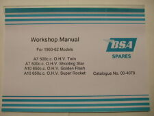 BSA A10 A7 INSTRUCTION MANUAL OWNERS MANUAL WORKSHOP MANUAL 00-4078