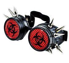 Black Red Bio Hazard Industrial Spike Goggles Cosplay Cyber Anime Zombie Hunter