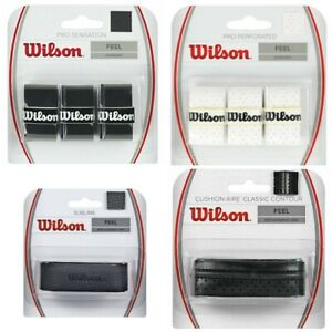 WILSON RACKET GRIP REPLACEMENT OR OVERGRIP CUSHION SENSATION PERFORATED CONTOUR