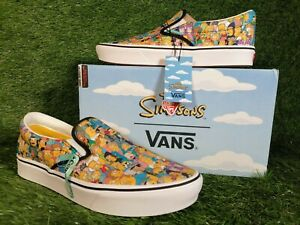 Vans ComfyCush The Simpsons Men's Size UK 9 Limited Edition Slip On Trainers