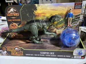 Jurassic World Camp Cretaceous Scorpius Rex Danger Pack + Kenji & Gyrosphere Toy