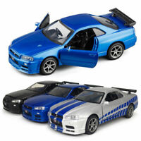 Nissan Skyline GTR R34 Sports Car 1:36 Model Car Diecast Vehicle Toy Kids Gift