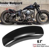 6.1'' Flat Short Motorcycle Rear Fender Mudguard For Harley Bobber Chopper Honda