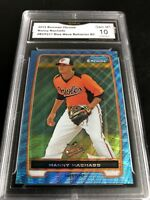 2012 Bowman Chrome Manny Machado Blue Wave Refractor Prospects Graded 10 💎