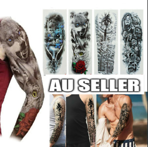 Waterproof Temporary Tattoo Sticker Full Arm Leg Large Body Art Cool Rock Decal