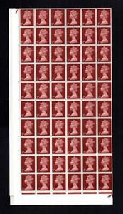 2d TYPE 2 MACHIN COMPLETE U/M SHEET OF 240 PHOSPHOR OMITTED SG 727y Cat £480