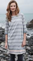 NEW Seasalt Ladies Folley Cove Stripe Tunic Dress Blue Size 10 Was £59.50