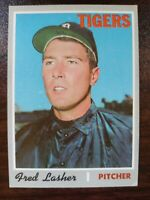 1970 Topps Set Break #356 Fred Lasher DETROIT TIGERS FREE SHIPPING