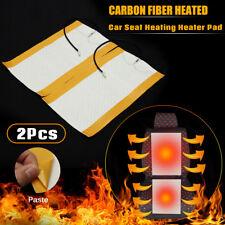2Pcs 12V Universal Carbon Fiber Heated Auto Car Seat Heating Pad Heater Warmer