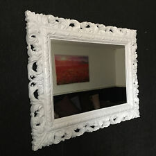 WHITE Resin Style French Ornate Mirror Large Vintage Wall Dressi