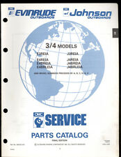 1991 OMC / JOHNSON  / EVINRUDE  3 & 4 MODELS OUTBOARD PART MANUAL