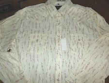 Nwt WHITE HORSE Ladies  L/S Western Shirt Pink Floral Design Size XX Large