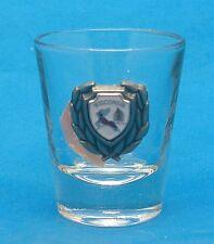WISCONSIN Souvenir Shot Glass Shooter Barware Bar Wisconsin Crest on Glass