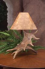 Moose Antler Table Lamp, 19x25, Rustic Cabin Deer Lamps & Lighting, Beautiful
