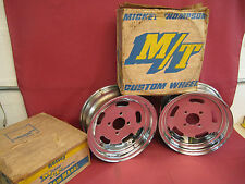 NOS Mickey Thompson Ford Pinto Chrome Slotted Wheels 13 x 5.5