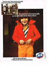 PUBLICITE  1974    JEAN  LE  BOURGET vetements enfants