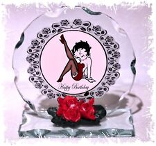 Betty Boop Birthday, Cut Glass Round Plaque Limited Edition | Cellini Plaques #1