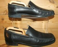 Russell & Bromley Smart Work Black Leather Loafers Moccasins Slip On Shoes