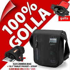 "NUOVA Borsa a Tracolla Camera Golla Digital SLR DSLR + 9.7"" iPad/Tablet 10.1"" tasche"