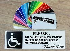 Please Don't Park To Close I Need Room Disabled Sticker Vinyl Decal Adhesive B