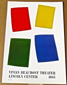 Ellsworth Kelly 1965 Opening of Vivian Beaumont Theater 16x11 Offset Litho LC