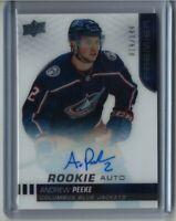 19/20 UD Premier Rookie Auto #ARA-AP Andrew Peeke RC (019/149) [Blue Jackets]