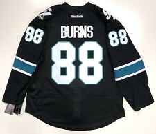 BRENT BURNS SAN JOSE SHARKS EDGE AUTHENTIC BLACK RBK JERSEY SIZE 50