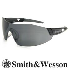 Smith & Wesson 44-Magnum Safety Glasses Black Temples Smoke Anti-Fog Lens