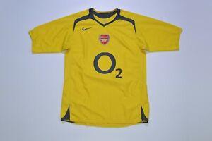 Vintage Nike Arsenal 2005/06 Away Jersey Shirt Camisa Made in Tunisia Size S