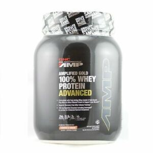 GNC AMP Gold Series 100% Whey Protein Advanced 30 Servings Cookies&CreamEX:05/21