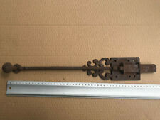 Antique french 18th century Large hand forged Iron Door Latch slide bolt lock