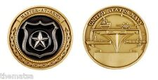 "USN NAVY MASTER  AT ARMS MA MILITARY LOGO  BRONZE 1.75"" CHALLENGE COIN"