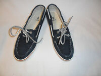B.Bakers Womens Blue/Navy Slip On Moccasins S-8 M Cotton Fabric upper/outside